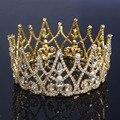 2016 серебряный тиара кристалл старинные золотые диадемы венчает горный хрусталь королева корона люкс аксессуары для волос свадебные украшения A437