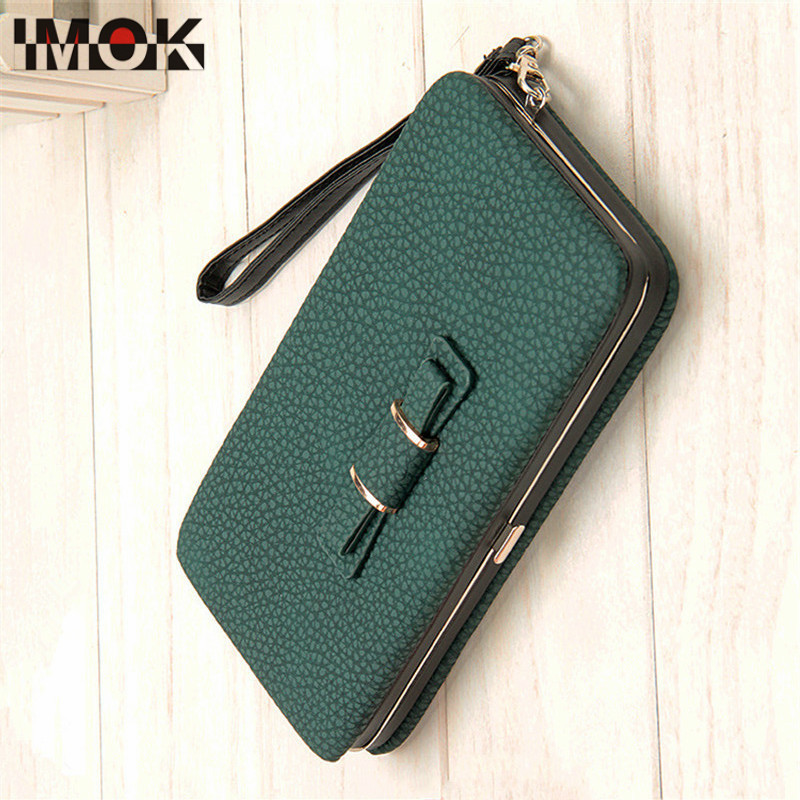Fashion Multi-function Womens Coin Wallet Bowknot Lunch Box Shape Lady Mobile Phone Bit ID Credit Card Holder Long Purse Wallets