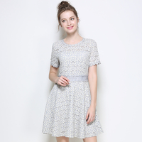 SAVOIL 2017 Summer New European And American Scales Scalloped Large Size Women S Waist Dress
