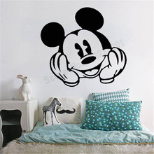 Mickey Mouse With Happy Face Wall Sticker Kidsroom Baby Boys Girls Decor Poster Mural Nursery Removeable Diy Design LY1109