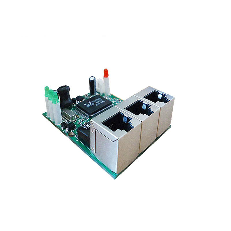 OEM manufacturer company direct sell Realtek chip RTL8306E mini 10/100mbps rj45 lan hub 3 port ethernet switch pcb board