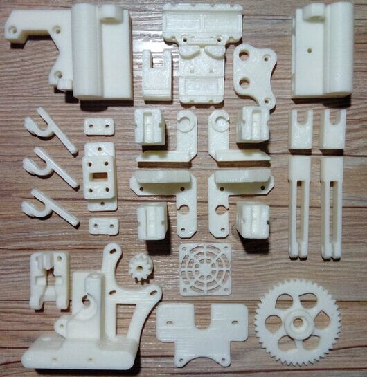 RepRap Prusa Mendel i3 PLA plastic Parts Kit DIY Prusa i3 Acrylic frame 3D Printer printed parts - White Free Shipping