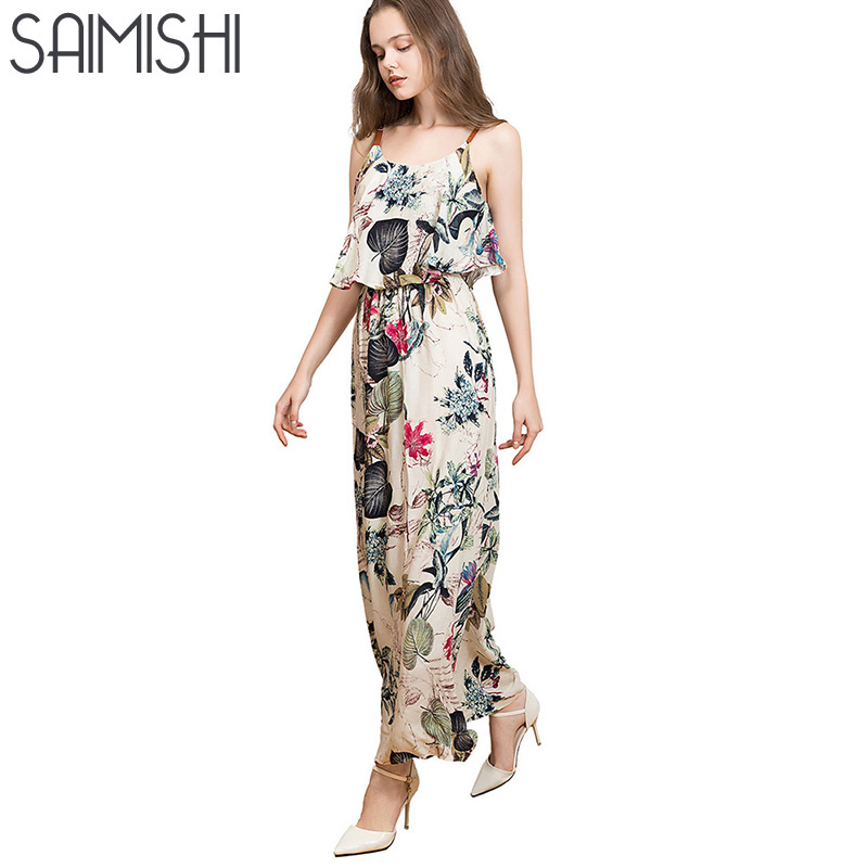 Saimishi Size M 2XL font b Women b font Spaghetti Strap font b Dress b font