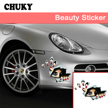 CHUKY Auto 3D Car Styling Stickers Eyes Design For Abarth Fiat 500 BMW E60 E36 Mercedes Benz W204 Volvo XC90 V70 Accessories image