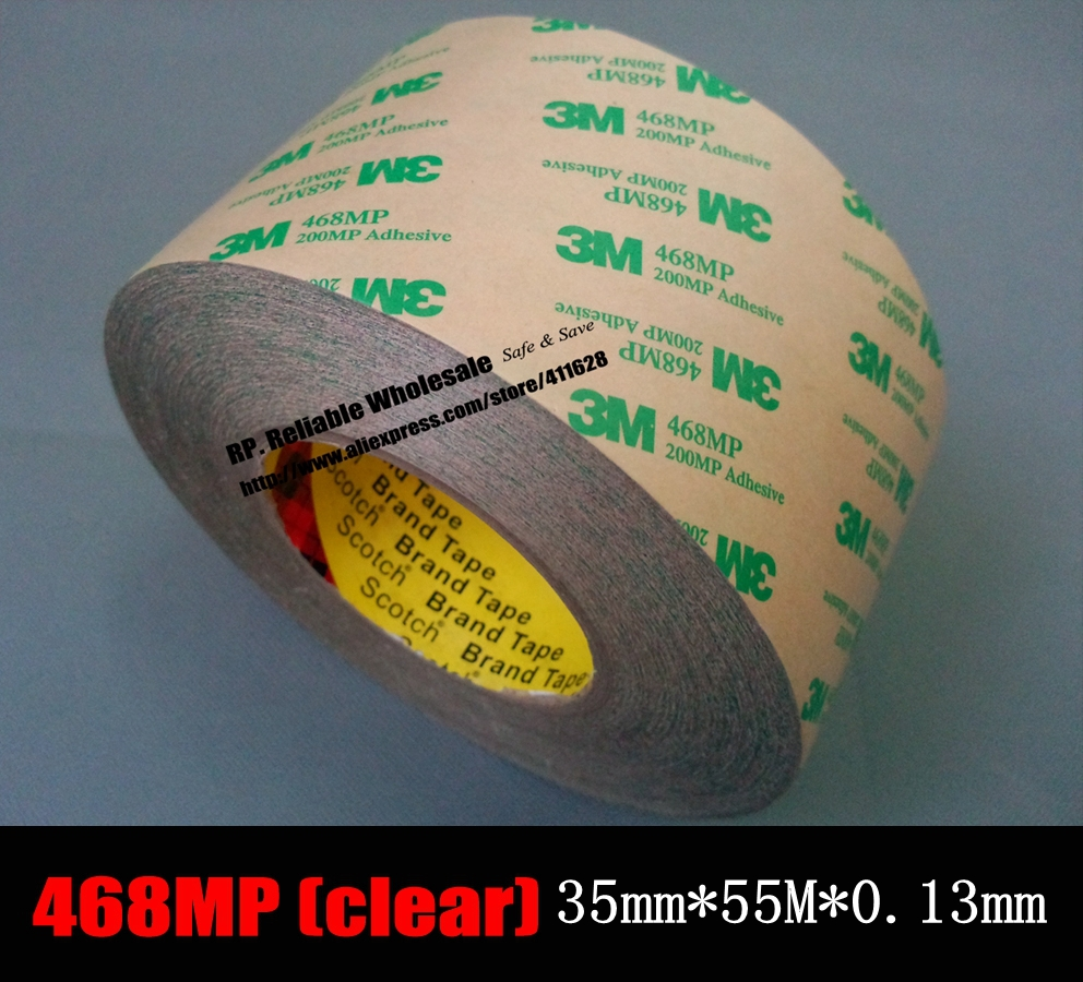 (35mm *50 Meters *0.13mm Thickness), 3M 468MP Double Sided Clear Adhesive Transfer Tape  for Soft PCB, Metal Thermal Pads Bond 10m super strong waterproof self adhesive double sided foam tape for car trim scotch