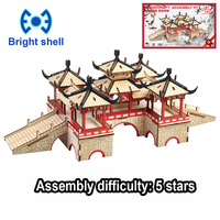 DIY arts and 3D Chinese style Wooden Craft toys Party Arts Puzzles Model Decoration for children kid Toy Birthday Best Gift