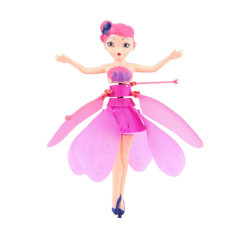 Beautiful Magic Children Kids Fairy Flying Dolls Funny USB Charging Early Education Infrared Induction Princess Dolls Toy