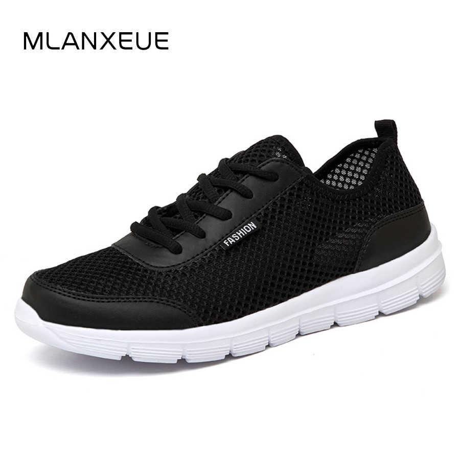 8e591346e6e03 MLANXEUE Men Shoes Summer Sneakers Breathable Fashion Mesh Casual Shoes  Couple Lover Mens Mesh Shoes Big