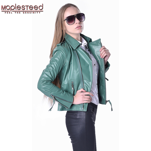 a10024533ef8b Factory Women s Leather Jacket Genuine Sheepskin 5 Colors Fashion Slim Fit  Short Lady Leather Coat For Women Autumn Spring ZH073