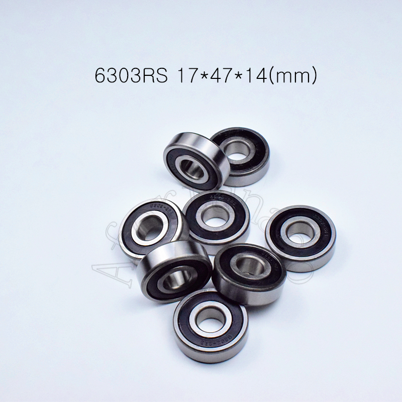 6303RS 17*47*14(mm) 1Piece Free Shipping Bearings ABEC-5  6303 6303RS Chrome Steel Deep Groove Bearing