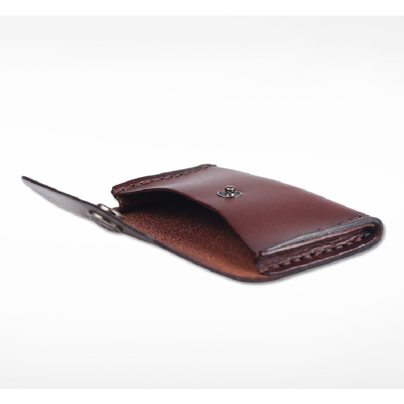 EACME Handmade Leather Business Card Holder for Money Card Bag ...