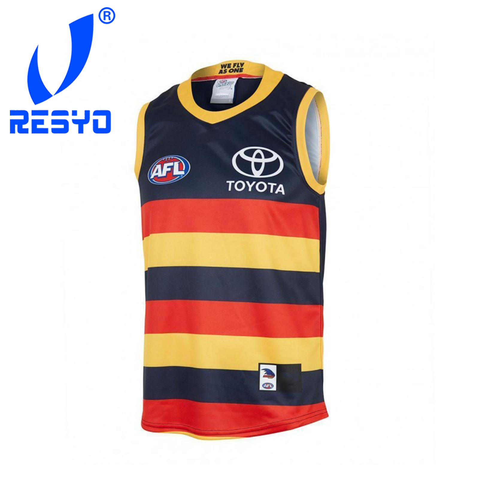 RESYO For AFL Adelaide Crows 2019 Men's Home Guernsey Rugby Jersey Sport Shirt