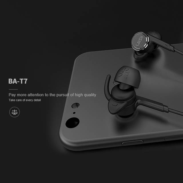 afd6ebc0568 UiiSii BA-T7 In-ear Headphone Earphones Wired Earphone with Microphone  Sport Running Earbuds