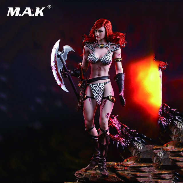 1/6 Scale PL2016-93 Red Sonja 2.0 Version the She-Devil Flexible Seamless Body Full Set Figure Action Figures