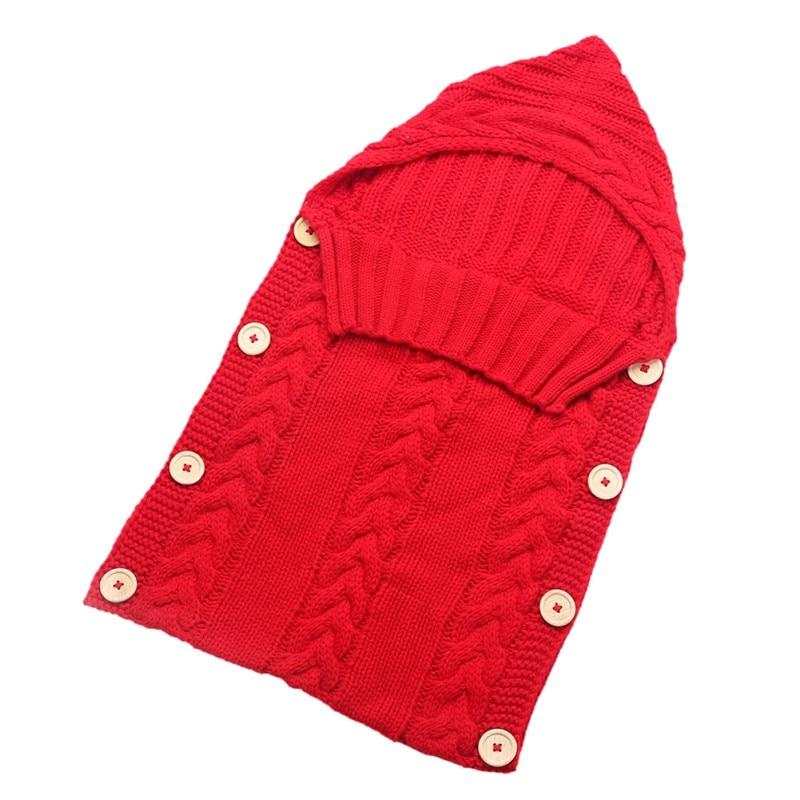 toddler wool knit sleeping bag newborn baby wrap swaddle blanket sleep sack stroller wrap 0