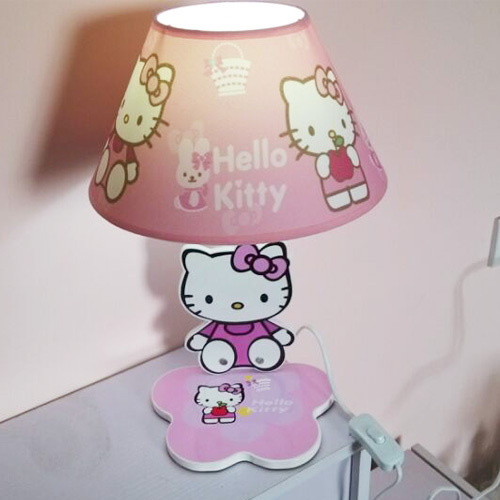 Creative Desk Lamp Table Lamp Pink Hello Kitty Style Led