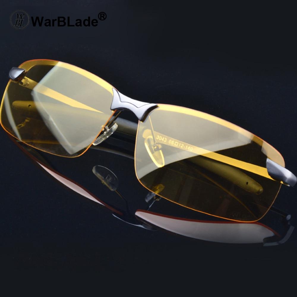 WarBLade 2018 nouvelle lentille jaune Vision nocturne lunettes de conduite hommes lunettes de soleil polarisées lunettes Polaroid réduire l'éblouissement