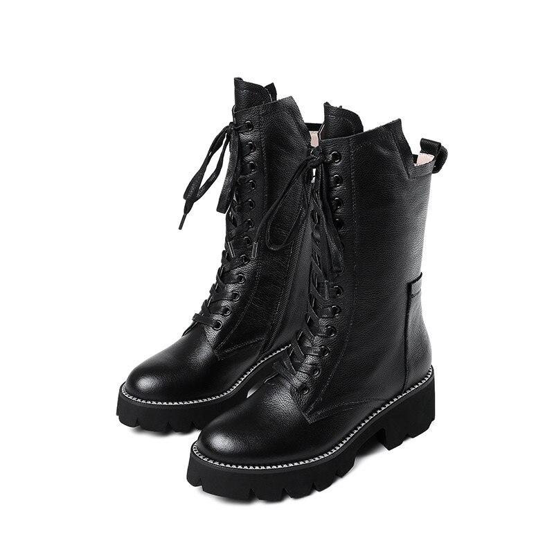 RIZABINA/размеры 36 43; женские ботфорты из натуральной кожи; модная брендовая пикантная зимняя обувь на высоком каблуке; женские Вечерние обувь д... - 2