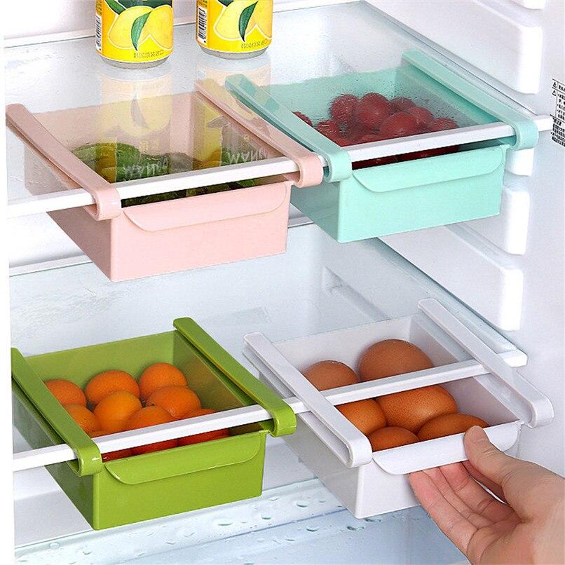 1PCS Kitchen Organizer Shelf Kitchen Refrigerator Space Saver Organizer Shelf Fridge Organizer Box Rack cocina organizador D13 (28)