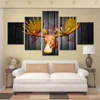 Home Decoration Art Prints On Canvas 5 Piece Canvas Art Modular Pictures HD Print Free Shipping
