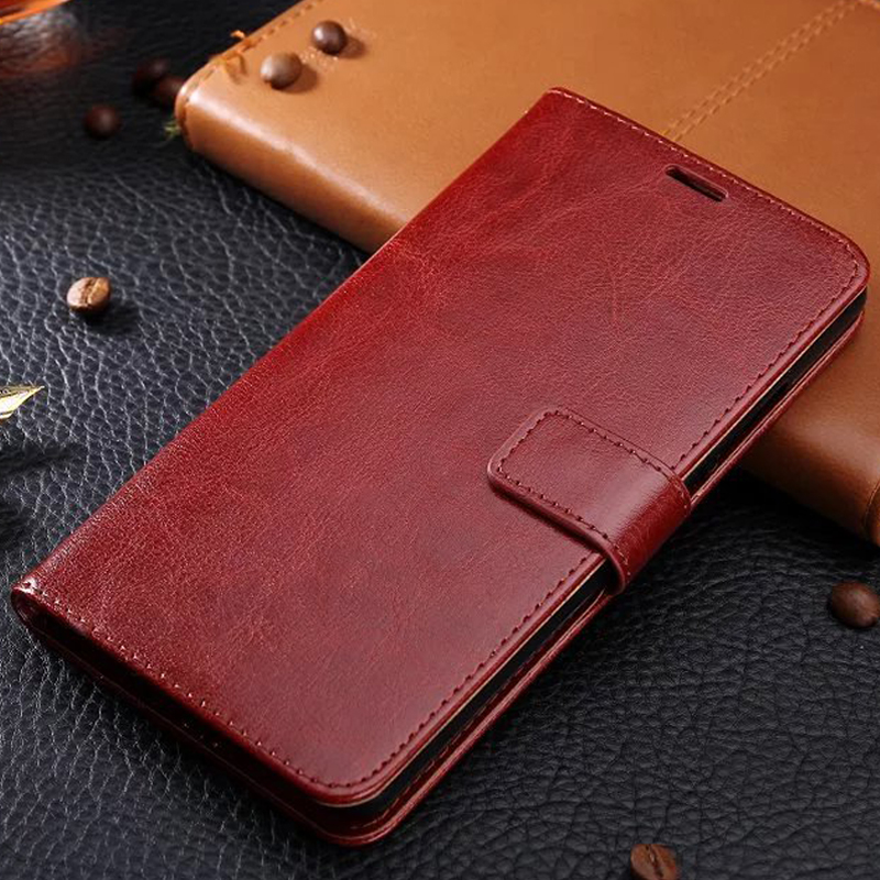 50pcs Crazy Horse Leather Wallet PU TPU Case For IPHONE Series 7 7 Plus 5 5S