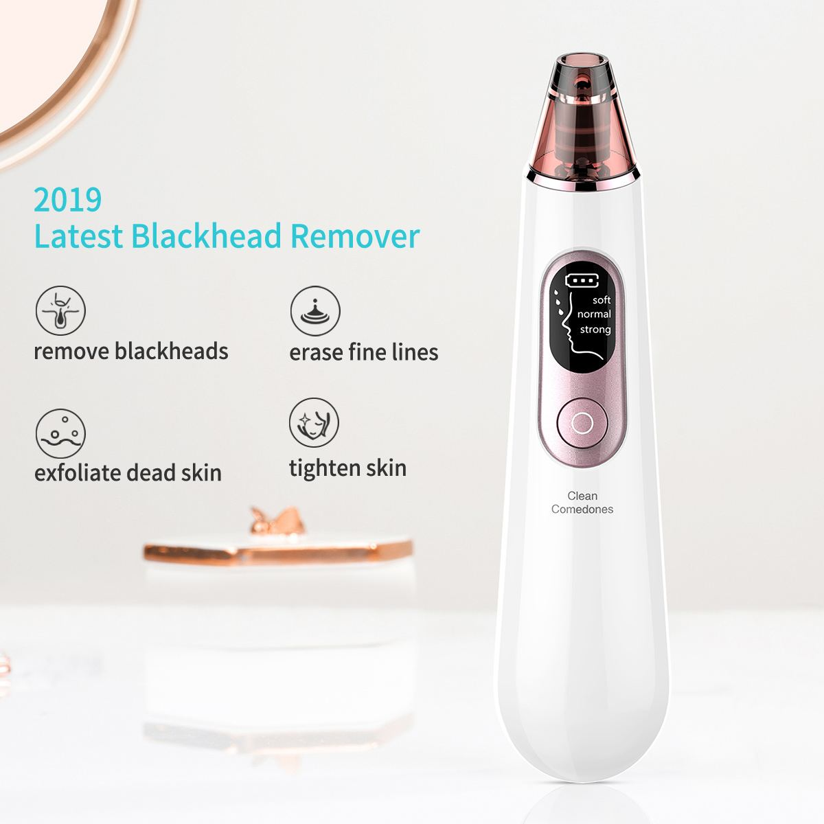 Face Nose Acne Black Dot Pimple Blackhead Remover Electric Blackhead Vacuum Cleaner Pore Blackhead Skin Care Tools Machine