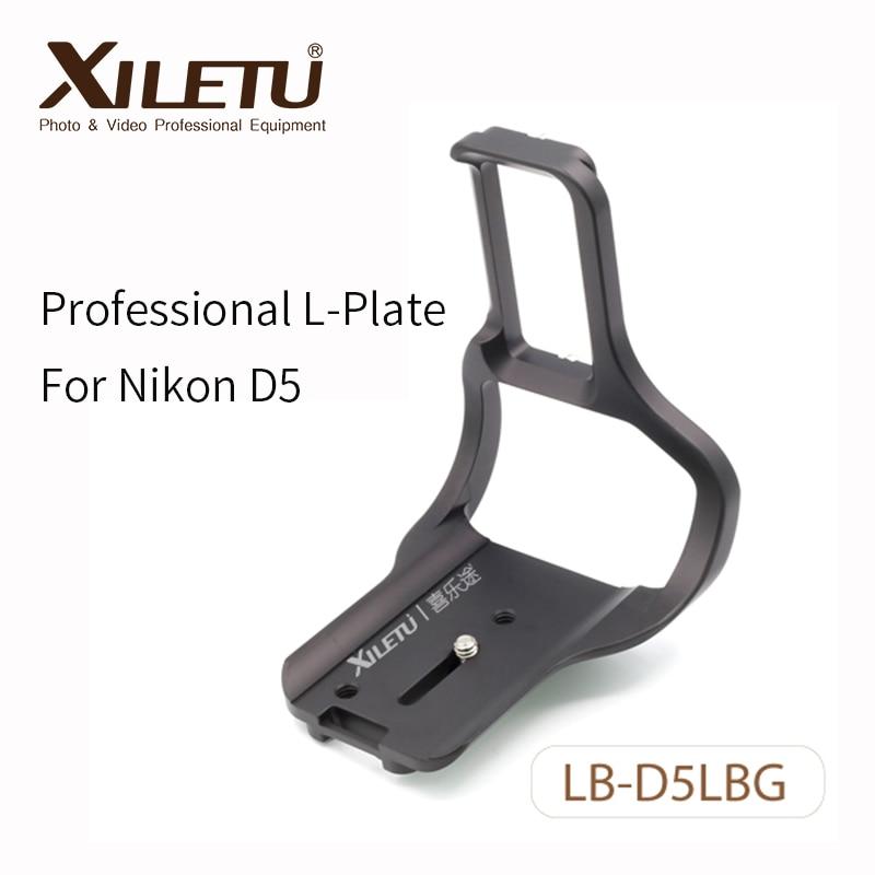 Xiletu LB-D5LBG Βραχίονας στήριξης για γρήγορη απελευθέρωση πλάκας για Nikon D5 ARCA SWISS τρίποδα με βίδα 1/4 'πλάτος διασύνδεσης 38mm