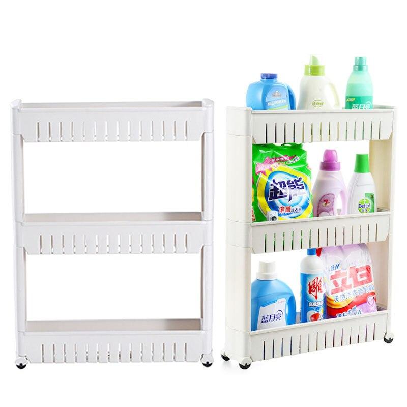 SHAI Multipurpose Shelf with Removable Wheels Crack Rack Bathroom Storage Storage Rack Shelf Multi-layer Refrigerator Side Shelf цены