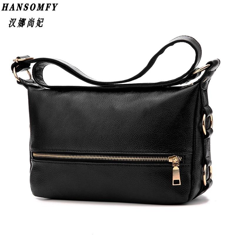 100% Genuine leather Women handbag 2018 New Fashion female bag Messenger bag shoulder bag Crossbody Shoulder Handbag