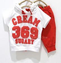 Nova Verão 369 Digital & Bandeira Nacional Roupa Das Crianças Define Roupa Dos Miúdos Dos Meninos Ternos Esportes Das Meninas Do Bebê Camisetas Hoodies + calças