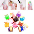 New Style 12 Color Choose 1pcs Pure Glass Transparent Clear Effect UV Colorful UV Nail Gel Polish Art Decoration DIY Arylic Nail