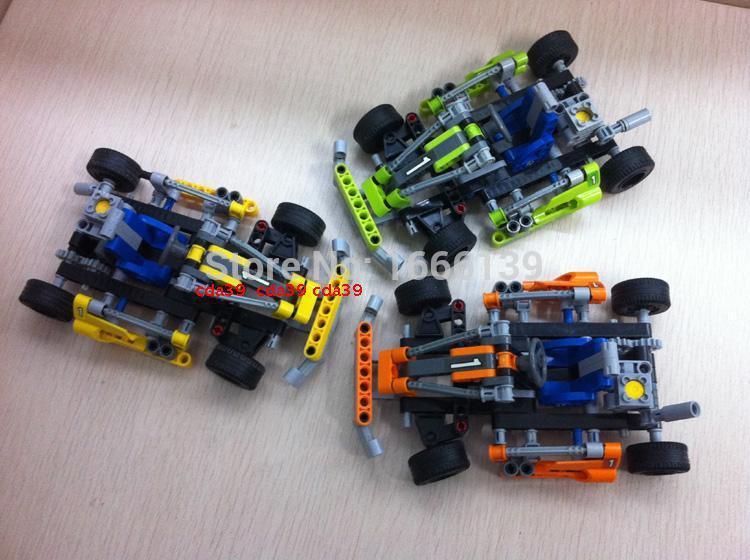 17cm/143PCS/TECHNIC Crash KART DIY POPKART Model CAR TOYS Building Blocks Assembly Bricks Compatible With Lego Boys Kids Gifts