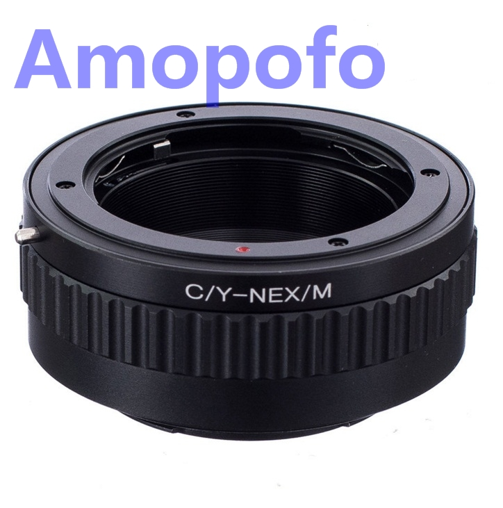 Amopofo CY-NEX/M Adapter Contax Yashica Mount Lens to SonyE Mount - Camera and Photo