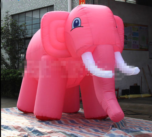 Custom Simulated Models Giant Inflatable Pink Elephant for Sale 3m Long HIGH QUALITY NE