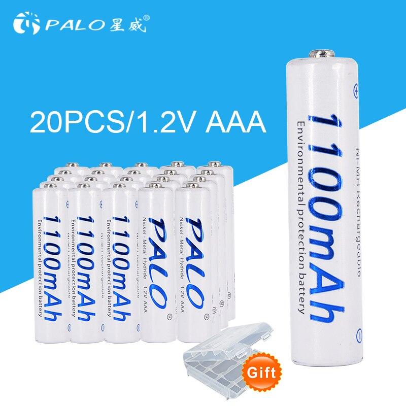 20 pcs/lot 1100 mah 1.2 v AAA Ni-MH Rechargeable Batterie AAA Pré-Charge des Batteries NIMH Pack Pour Jouets Microphone télécommandes