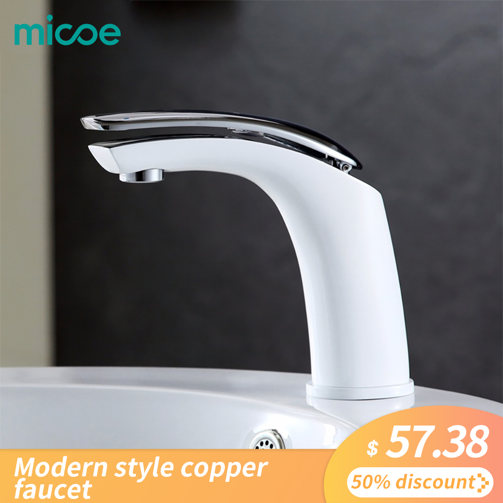 micoe hot and cold water basin faucet mixer single handle single hole modern style main body