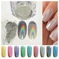 1 g/caixa Holográfica A Laser Prego Pó Glitter Íris Pigmento Manicure Pigmentos Chrome # HS221354
