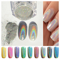 1g/Box Holographic Laser Powder Nail Glitter Rainbow Pigment Manicure Chrome Pigments # HS221354