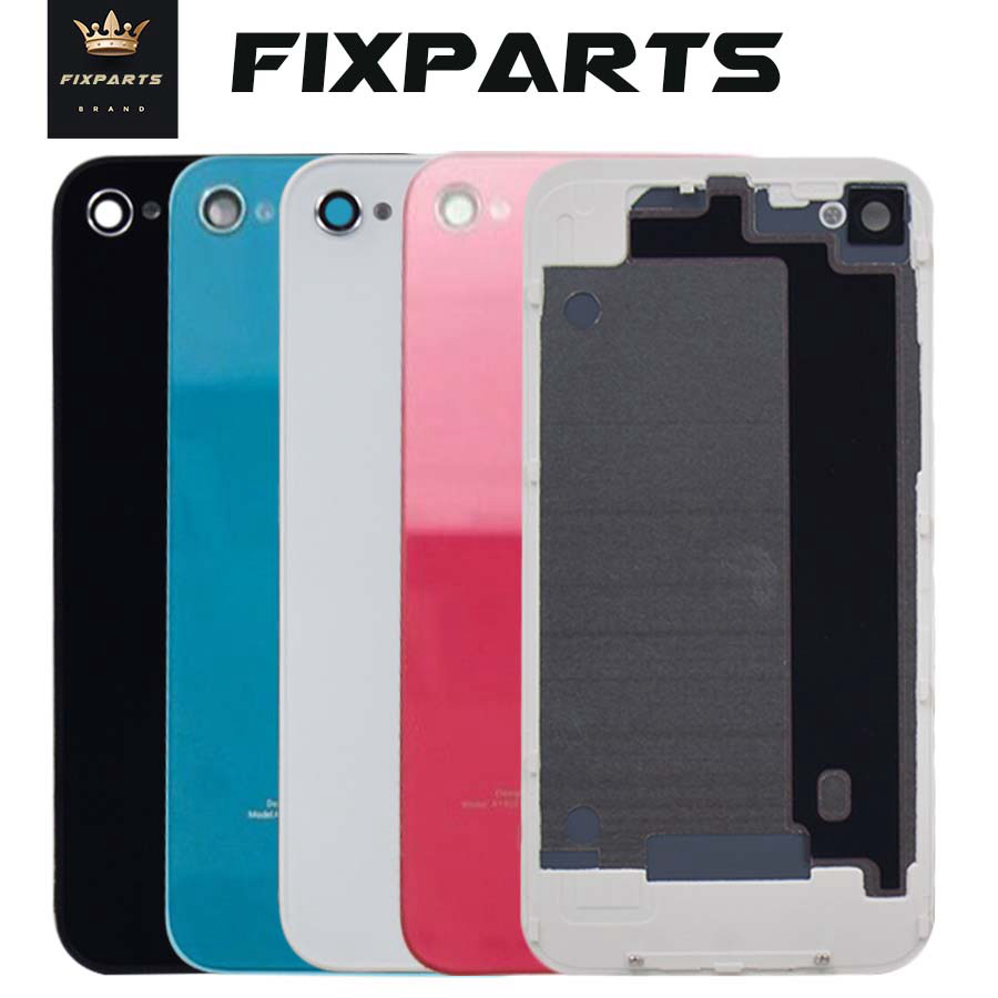 100% Tested Back Cover Black White Case For Iphone 4 S 4G 4S Rear Glass Battery Door Housing Replacement Parts 4 Back Cover