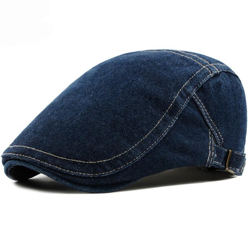 HT1193 ajustable hombres boina primavera sol de verano transpirable hueso  ala plana sombreros de los hombres 5d0140277b7
