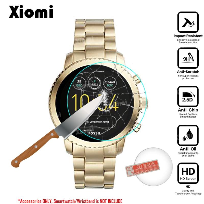 6cd2362cd57b5 Para um Crescimento Inteligente Relógio Fóssil Q Explorist Gen 3 Smartwatch  Aço Inoxidável Tampa Do Protetor de Tela de Vidro Temperado Protective Film  ...