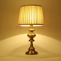 2 шт./лот Винтаж латунь современные украшения настольная лампа E27 Спальня прикроватной тумбочке стол Lights приспособление Кафе Магазин отель