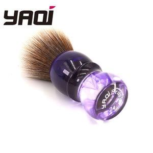 Image 2 - Yaqi fioletowy Haze Mew brązowy syntetyczny uchwyt męski pędzel do golenia brody