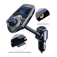 44 VicTsing Bluetooth FM Transmitter USB Car Charger Wireless Car Kit with 3.5mm Audio Port MP3 Music Player with 1.44 Inch Display (4)