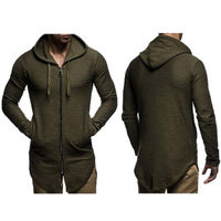 Hirigin New Men S Plain Long Sleeve Autumn Winter Hoodie Zip Up Fleece O Neck Hoody
