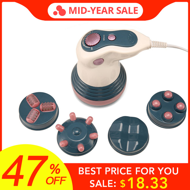 4 In 1 Electric Infrared Body Massager Tool Weight Loss Anti Cellulite Slimming Beauty Machine Back Health Massage Relaxation