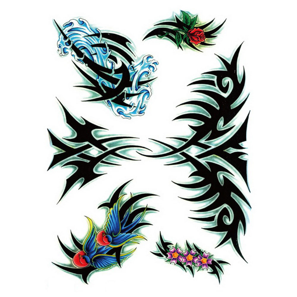 Yeeech Temporary Tattoos Sticker for Men Large Fake Sexy Cool Creative Pattern Designs Arm Leg Back DIY Body Art Waterproof