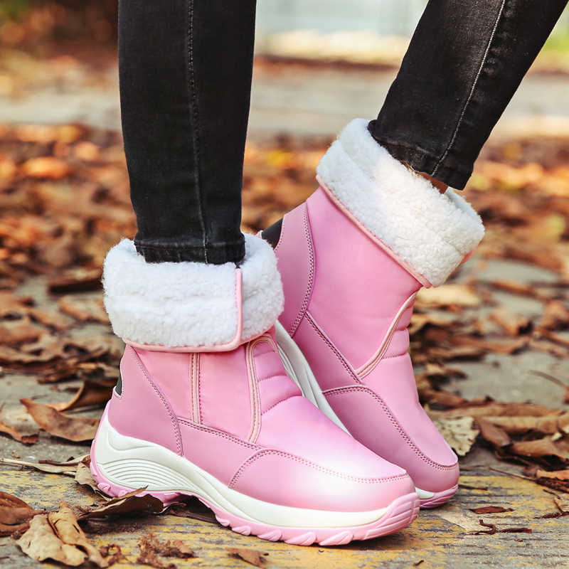 Прямая поставка; большие размеры 42; высококачественные зимние сапоги; женские комфортные туфли; теплая водонепроницаемая обувь из плюша для русской зимы; женские ботинки