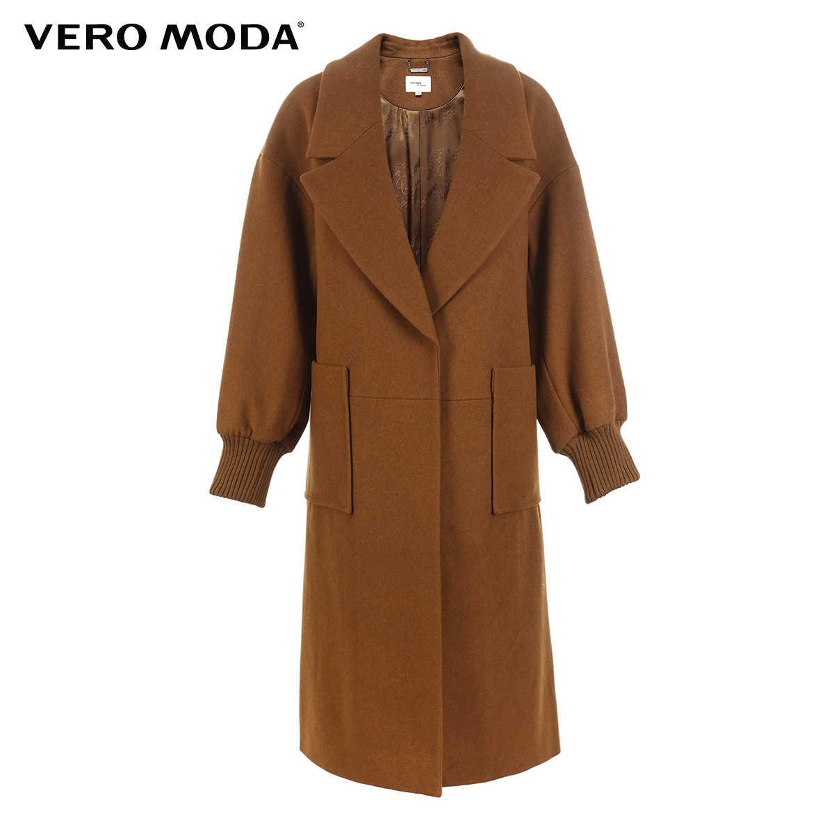 Vero Moda neue arbeitsplatz lose fit minimalis revers wolle mantel frauen   318427507