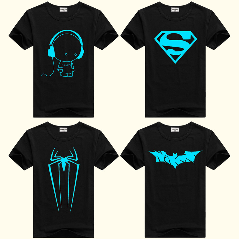 DMDM PIG Boys Luminous Short Sleeve T-Shirts For Girls Tops 8 11 12 13 Years Children Spiderman Tshirt Baby T Shirt Kids Clothes(China)